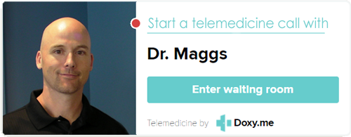 Start a Telemedicine Call with Doctor Kevin Maggs